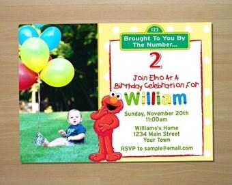 Elmo Birthday Invitation - Digital File (Printing Available)