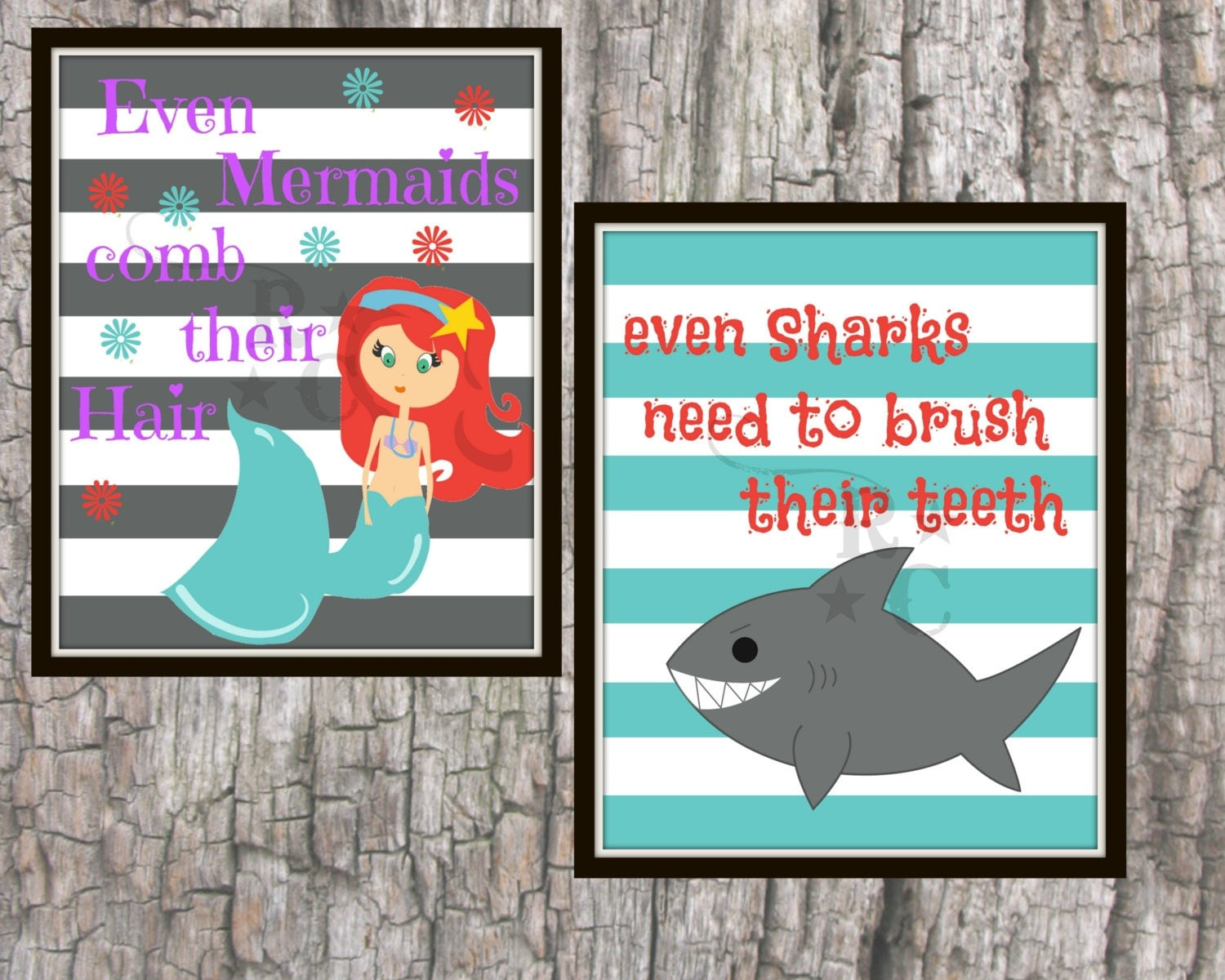 Mermaid bathroom shark bathroom unisex bathroom kids for How do sharks use the bathroom