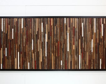 Reclaimed wood wall art made of old barnwood, Different Sizes Available, Large art, wood wall sculpture