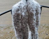 Hand Spun, Hand Knit 100% Angora Rabbit Wool Infinity/Circle Scarf. - BlueMoonsWoolFarm