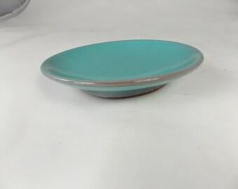 Vintage Ceramic  Teal Plate By Rondtrrees
