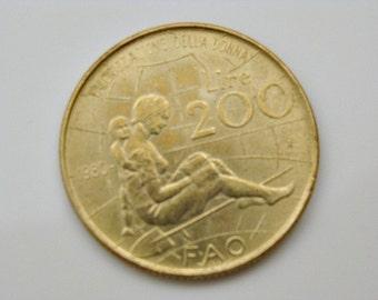 1980 R Italian Valorizzazione Della Donna FAO 200 Lire
