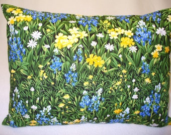 BlueBonnets & Wildflowers Travel Size Pillowcase with Pillow