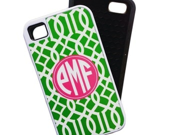 monogrammed iphone 4 tough case • design your own