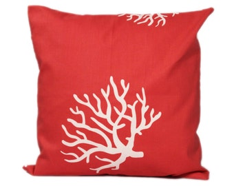 CORAL PILLOWS 18x18 inch Decorative Pillow Covers 18 x 18 Accent Pillow Covers