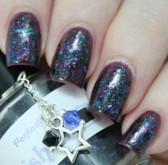 """Fantastic (The Ninth Doctor) glitter nail polish 15 mL (.5 oz) from the """"Bigger on the Inside"""" Collection"""