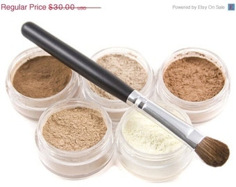 50% off Christmas in July | Mineral Makeup Eyeshadow 6pc Neutrals Pure Natural Vegan makeup - Beneficial Minerals