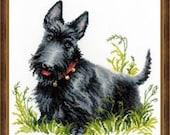 Cross Stitch Kit - Scottish Terrier Dog