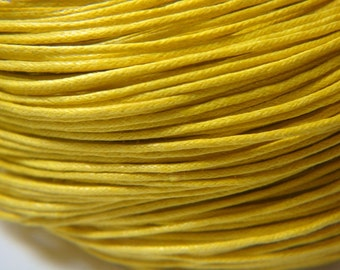 10M 1.0mm or .7mm Golden YELLOW Waxed Cotton Cord, bracelet cord, Vegan Jewelry cord, Kumihimo cord, Necklace cord, macrame cord