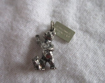 Vintage Sterling Silver Charm Mother & Baby Bear by Bell  Sweet