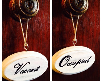 Bathroom Door Signs Vacant occupied sign | etsy