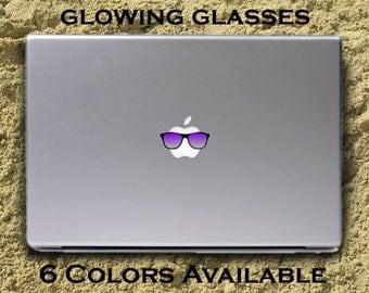 GLOWING MacBook Sunglasses - Macbook decal macbook sticker Macbook Pro Keyboard glasses Macbook Air Decal glasses commercial /vinyl sticker