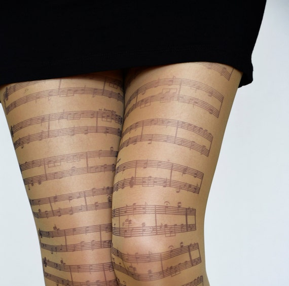 Bien-aimé Notes de musique collants collants Transparent tatouage NI16