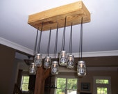 Seven jar pallet chandelier