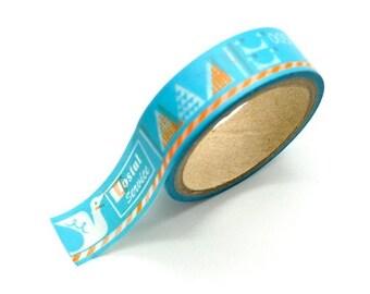 Washi Tape Paper Masking Tape - Stork Postal Service Sky Blue