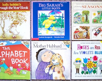 20 Childrens Books - Lot of Look-Look and Read to Me Books - Provensen, Bridwell, Holly Hobbie, Big Sarah - Summer Reading Book Collection