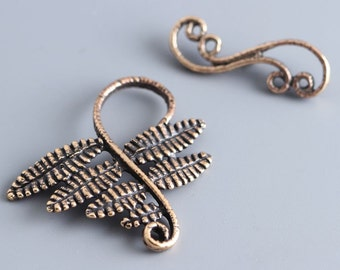 BronzeToggle Clasp - Handmade Toggle - Natural Clasp - Aged Toggle - Handmade Findings (2624(1) Tree branch clasp
