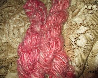 60 to 80 Yards,  Banana Fiber Yarn,  100 grams,  Multi Pink Color,  Fair Trade
