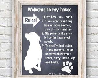 Dog Rules Printable Poster 8x10