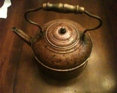 LARGE Vintage Copper Tea Kettle from Rome