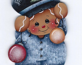 Gingers Ornaments Gingerbread Painting E-Pattern