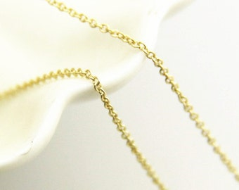 6 meters of O shape brass chain 1.2mm -9904-18k gold