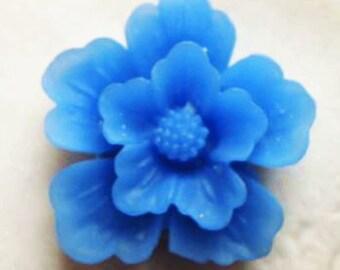 12 pcs of sakura flower cabochon-22mm-rc0166-41-carpi blue