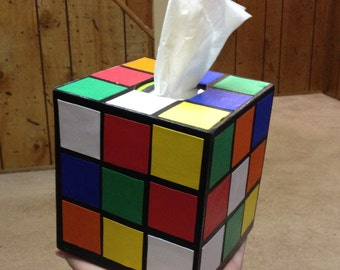 Rubix Cube Tissue Box Cover - Not Made of Yarn