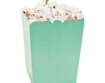 12 Mini Mint popcorn boxes treat favors