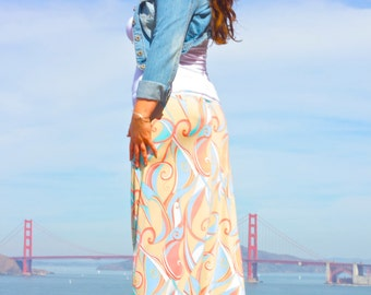 Pastel Wonders Long Skirt