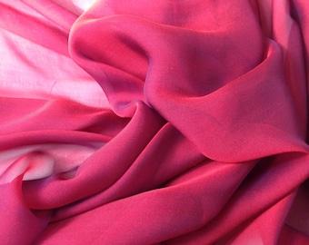 Iridescent Silk Chiffon Fabric (by the yard)