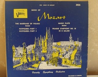 Vintage LP Record Music of Mozart Marriage of Figaro Magic Flute Varsity R-4