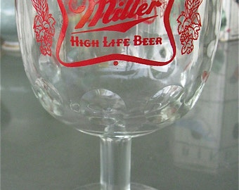 Miller High Life Beer Glass/Schooner