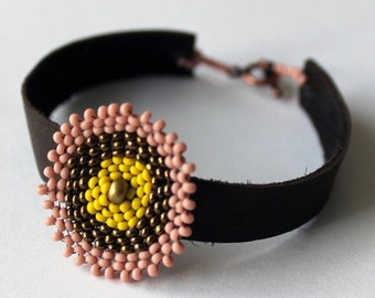 50% off! Leather Bracelet {HAITI}