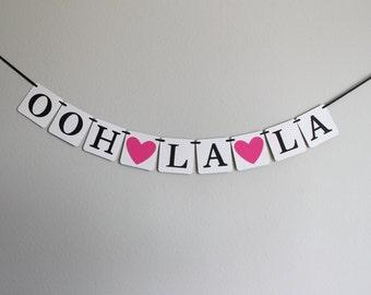 lingerie shower banner - bachelorette party banner - bachelorette banner - bridal shower banner - Ooh La La