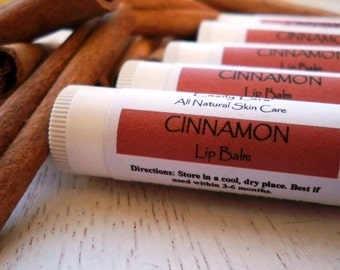 Cinnamon Lip Balm Natural Beeswax Shea Butter Lip Balm .15oz