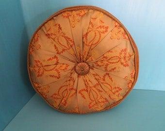 Vintage Satin  leaf Brocade and Velvet pillow.