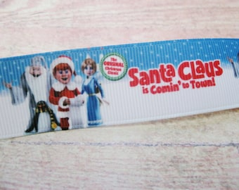 "Santa Claus Is Coming to Town! Grosgrain Ribbon - 1"""