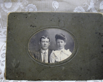 Cabinet Card of Young Couple