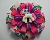 My Little Pony Inspired Flower Hair Bow Clip