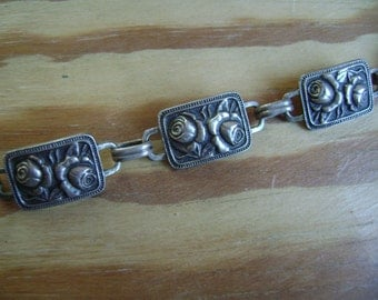 old rose bracelet in sterling