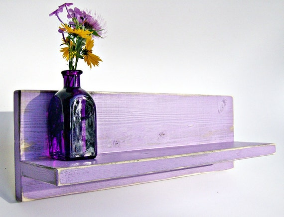 Items similar to bathroom decor lavender wall shelf for Bathroom decor etsy