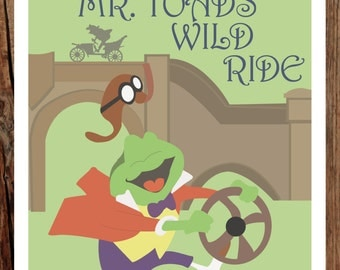 Mr. Toad's Wild Ride - 11x17 Giclee Print