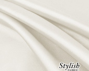 """60"""" Off White Charmeuse Satin Fabric by the Yard, Charmeuse Fabrics, Charmeuse Satin Fabrics, Bridal Wedding Satin Fabric- 1 Yard Style 2800"""