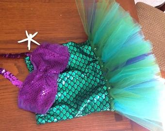 Ariel Inspired Mermaid Costume