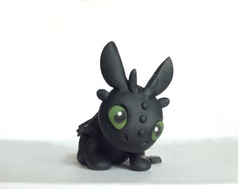 Polymer Clay Toothless Figurine