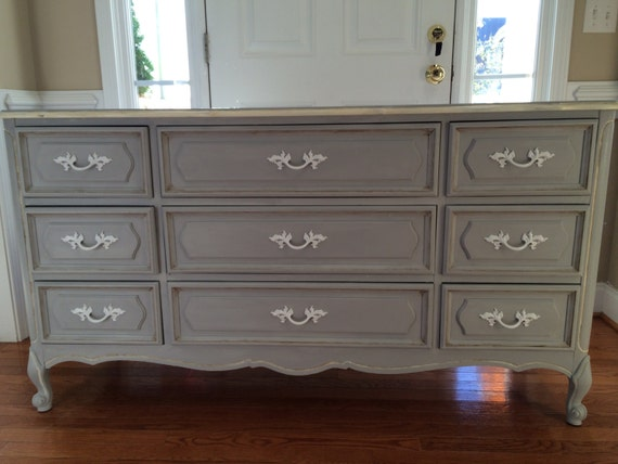 Greyhound Shipping Quote >> Paris Grey French Provencial Nine Drawer Dresser by RedeemedFinds