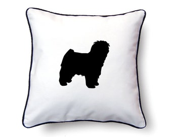 Puli Pillow 18x18 - Puli Silhouette Pillow - Personalized Name or Text Optional