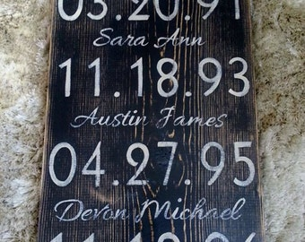 Important dates, Love never fails, Our love Story, Custom Wood Sign,What a Difference a Day, Anniversary Gift, Mothers Day Gift, Family Sign
