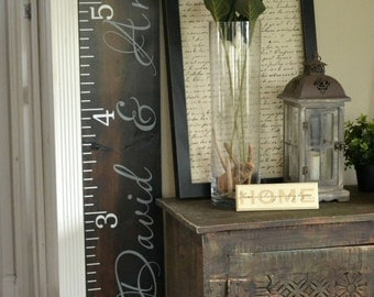 Distressed Wood Growth Chart, Growth Chart Ruler Vinyl Decal,Child Growth Chart